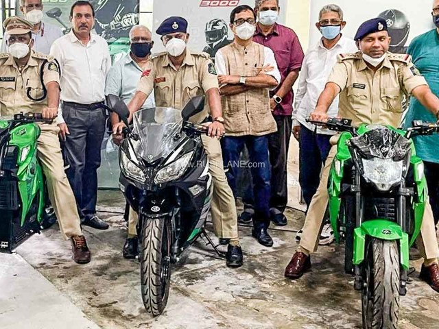 Kabira Electric Motorcycles KM3000, KM4000 Delivered To Goa Police