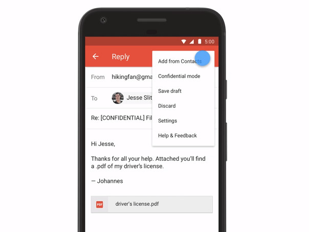 Google brings Confidential mode to Gmail for Android