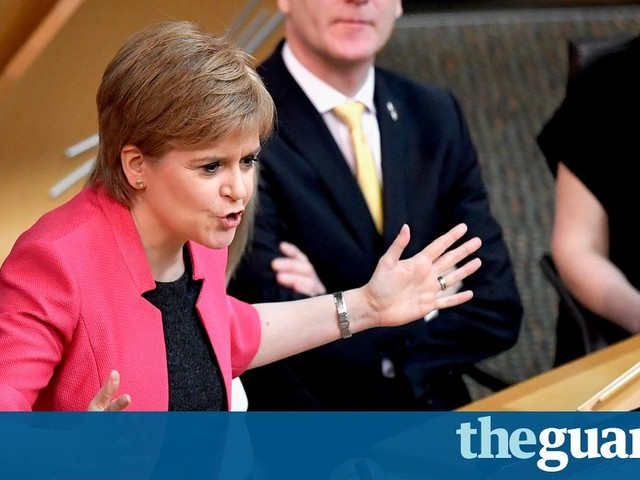 Sturgeon: 'undemocratic' for Tories to block independence referendum – video