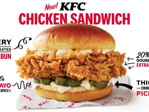 Extra-Large Chicken Sandwiches - KFC Testing New Larger, More Premium Chicken Sandwich in Florida (TrendHunter.com)