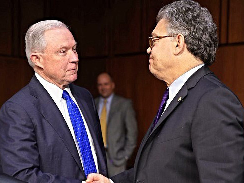 Al Franken Accuses Jeff Sessions Of 'Moving The Goal Posts' In A Heated Exchange Over Russia