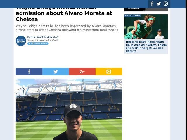 Wayne Bridge makes honest admission about Alvaro Morata at Chelsea