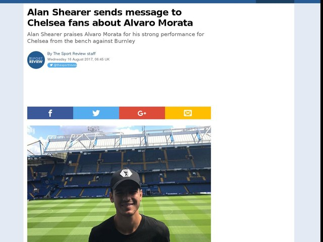 Alan Shearer sends message to Chelsea fans about Alvaro Morata