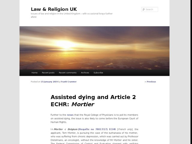 Assisted dying and Article 2 ECHR: Mortier
