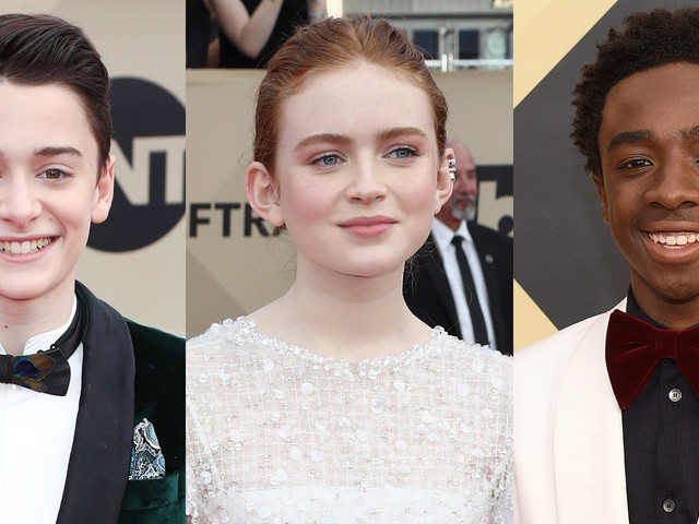 Noah Schnapp, Sadie Sink, & Caleb McLaughlin Look So Stylish at SAG Awards 2018!