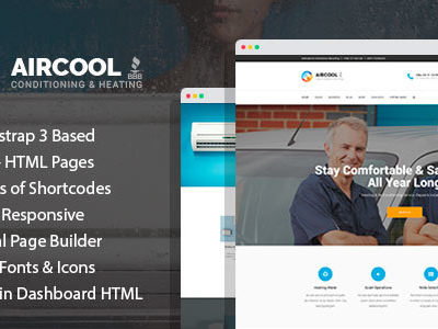 AirCool - Conditioning And Heating HTML Template with Visual Builder (Business)