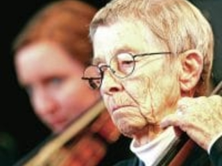 At 92, Jody was still in the orchestra