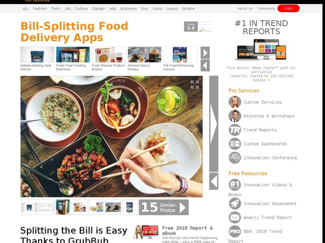 Bill-Splitting Food Delivery Apps - Splitting the Bill is Easy Thanks to GrubBub and Venmo (TrendHunter.com)