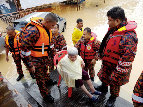 Number of flood victims in Penang rising