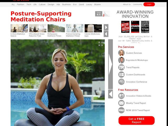 Posture-Supporting Meditation Chairs - The Alexia Ergonomic Meditation Seats Come in Several Styles (TrendHunter.com)