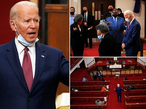 Biden leaves basement for second day in a row to meet with black leaders and pray at Delaware church