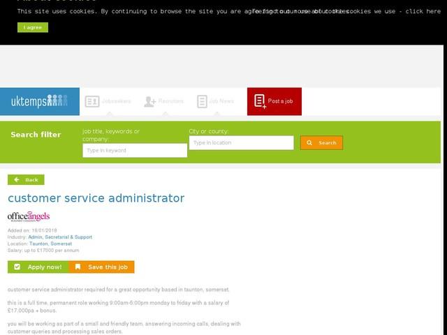 customer service administrator