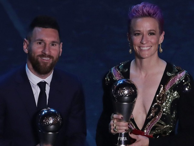 Ballon d'Or winner Megan Rapinoe calls out Lionel Messi, Ronaldo and Ibrahimovic for not speaking out against sexism