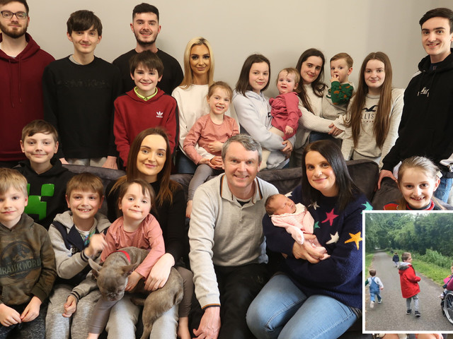 Mum-of-22 Sue Radford reveals the chaos of leaving home to go for a huge family walk in lockdown