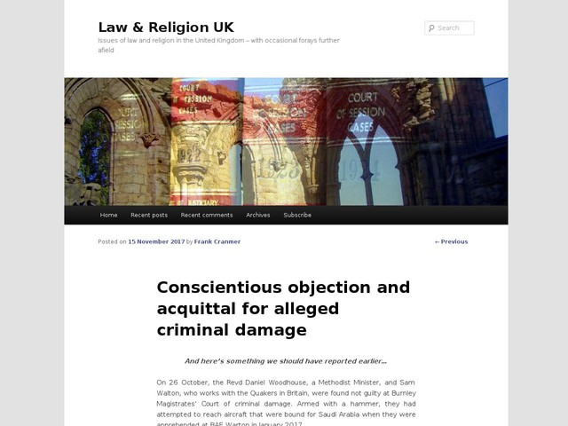 Conscientious objection and acquittal for alleged criminal damage