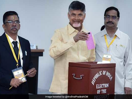 Andhra Pradesh Chief Minister Votes In The Presidential Election