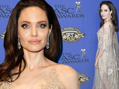 Angelina Jolie is honored at the ASC Awards