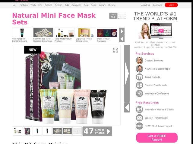 Natural Mini Face Mask Sets - This Kit from Origins Skincare Contains Four Different Masks (TrendHunter.com)