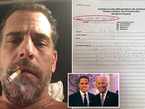 Laptop allegedly belonging to Hunter Biden is linked to FBI 'White Collar' money laundering probe