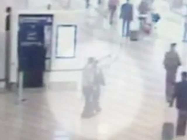 Horrifying moment Paris Orly Airport 'terror' attacker grabs soldier's rifle before being shot dead revealed in CCTV footage