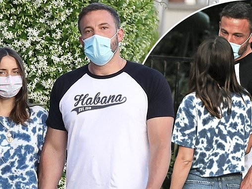 Ben Affleck gets loved up and handsy with new flame Ana De Armas as they mask up for LA dog walk