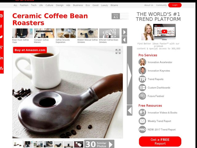 Ceramic Coffee Bean Roasters - The Nuvo Eco Lets You Prepare Raw Beans Straight from Home (TrendHunter.com)