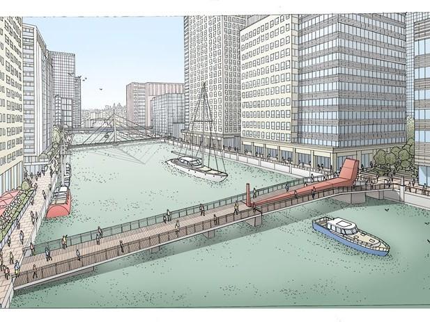 New pedestrian bridge planned for Canary Wharf