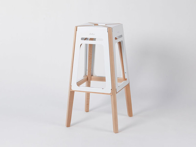 Atypical Architectual Stools - The 'ARTU' Stool Seat is Crafted Using Both Wood and Metal (TrendHunter.com)