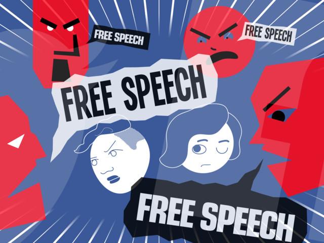 "Silenced by ""free speech"""