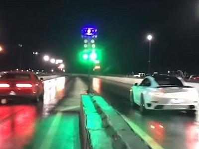 Dodge Demon Drag Races Tuned Porsche 911 Turbo S, All Hell Breaks Loose