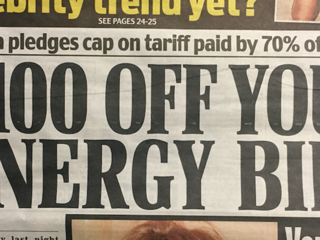 Daily Mail CoversTheresa May's Energy Cap QuiteDifferently To WhenEd Miliband Proposed Policy
