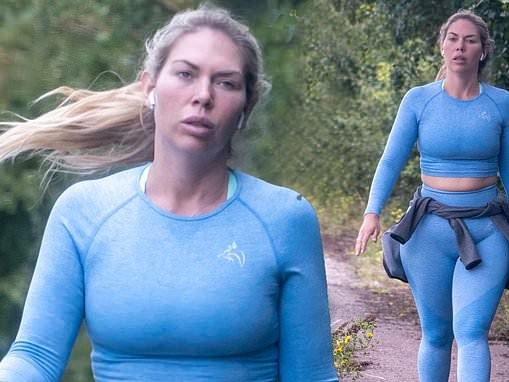 TOWIE's Frankie Essex showcases her enviable curves as she steps out in figure-hugging gym gear