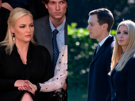 Meghan McCain Blasts Ivanka Trump & Jared For Crashing Dad's Funeral