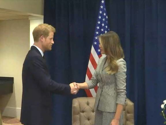 Melania Trump meets with Prince Harry, Justin Trudeau and family in Toronto