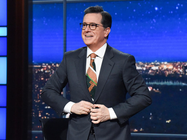 Of Course Stephen Colbert Took a Jab at Lindsey Graham During the CBS Upfronts