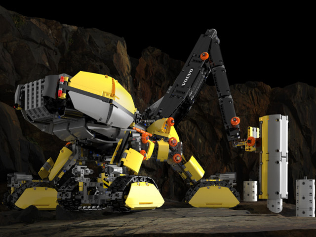 All-terrain, driverless Lego construction vehicle could be our future - CNET