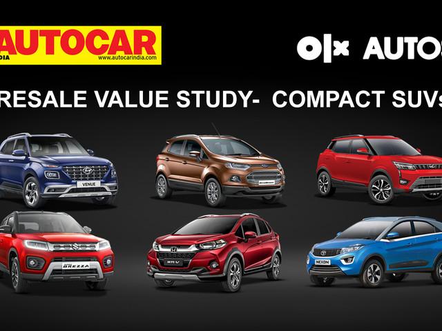 Hyundai Venue, Maruti Brezza lead compact SUVs in Autocar India, OLX Autos resale value study