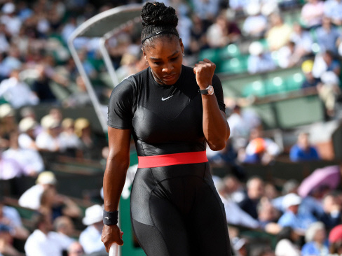 Catwoman Serena back in business as Nadal, Sharapova survive scares