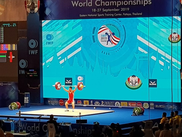 IWF World Championships: Day one of competition