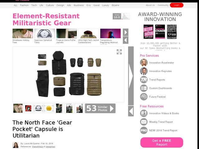 Element-Resistant Militaristic Gear - The North Face 'Gear Pocket' Capsule is Utilitarian (TrendHunter.com)
