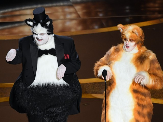 Visual Effects Society gets claws out over James Corden and Rebel Wilson's Cats joke at the Oscars
