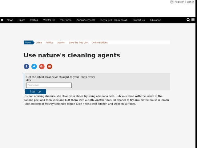 Use nature's cleaning agents