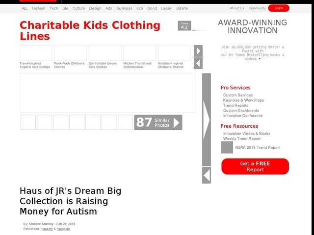 Charitable Kids Clothing Lines - Haus of JR's Dream Big Collection is Raising Money for Autism (TrendHunter.com)