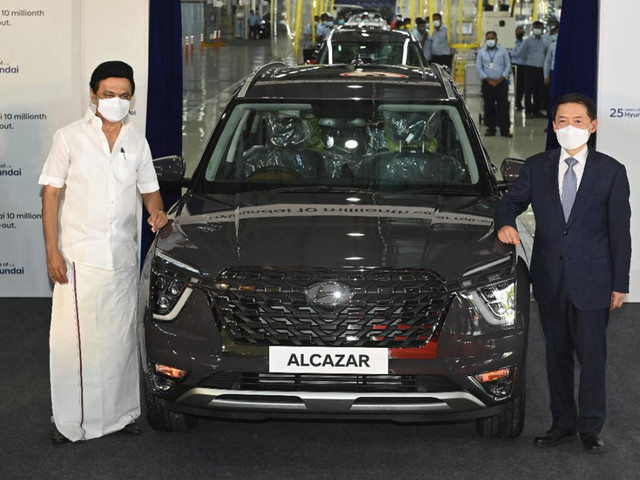 Hyundai rolls out 10 millionth car from India plant