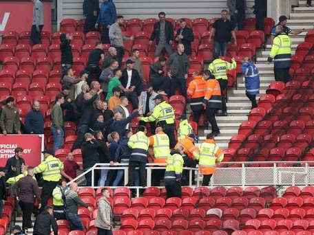 Children hurt in Middlesbrough post-match brawl over disallowed goal
