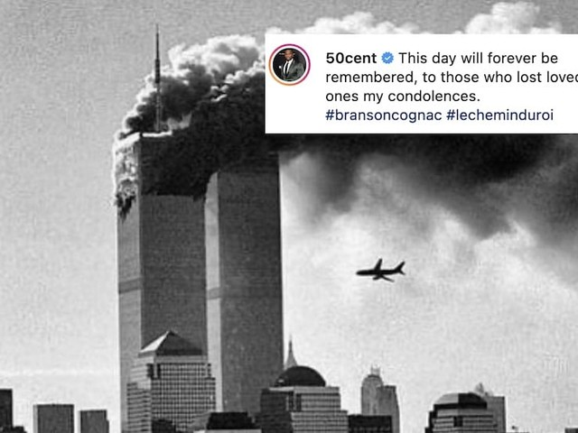 50 Cent's 9/11 tribute was an ad for his cognac