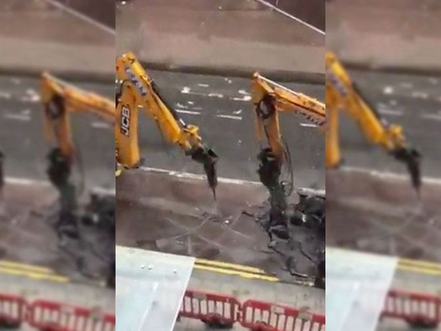Two huge drills take a much-needed work break with a casual game of noughts and crosses
