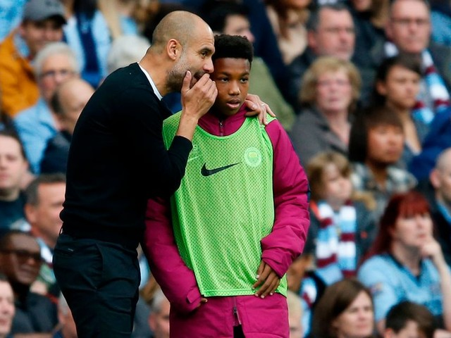 Pep talk! Guardiola explains why he gave ball boy tactical instructions during Manchester City win against Crystal Palace
