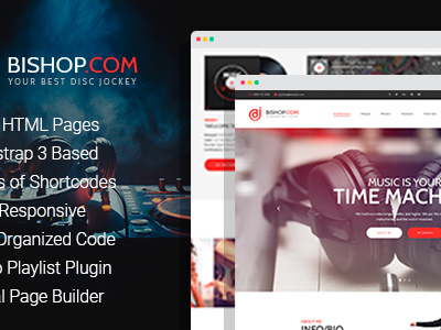 Dj Bishop - Dj Personal Page HTML Template with Visual Builder (Nightlife)