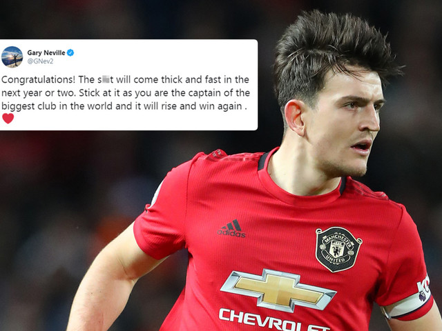 Man Utd legend Gary Neville warns Harry Maguire 'the s*** will come thick and fast' as he's named club captain